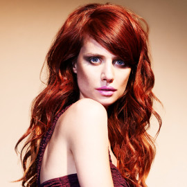 Headmasters long wavy red hair 2012 collection