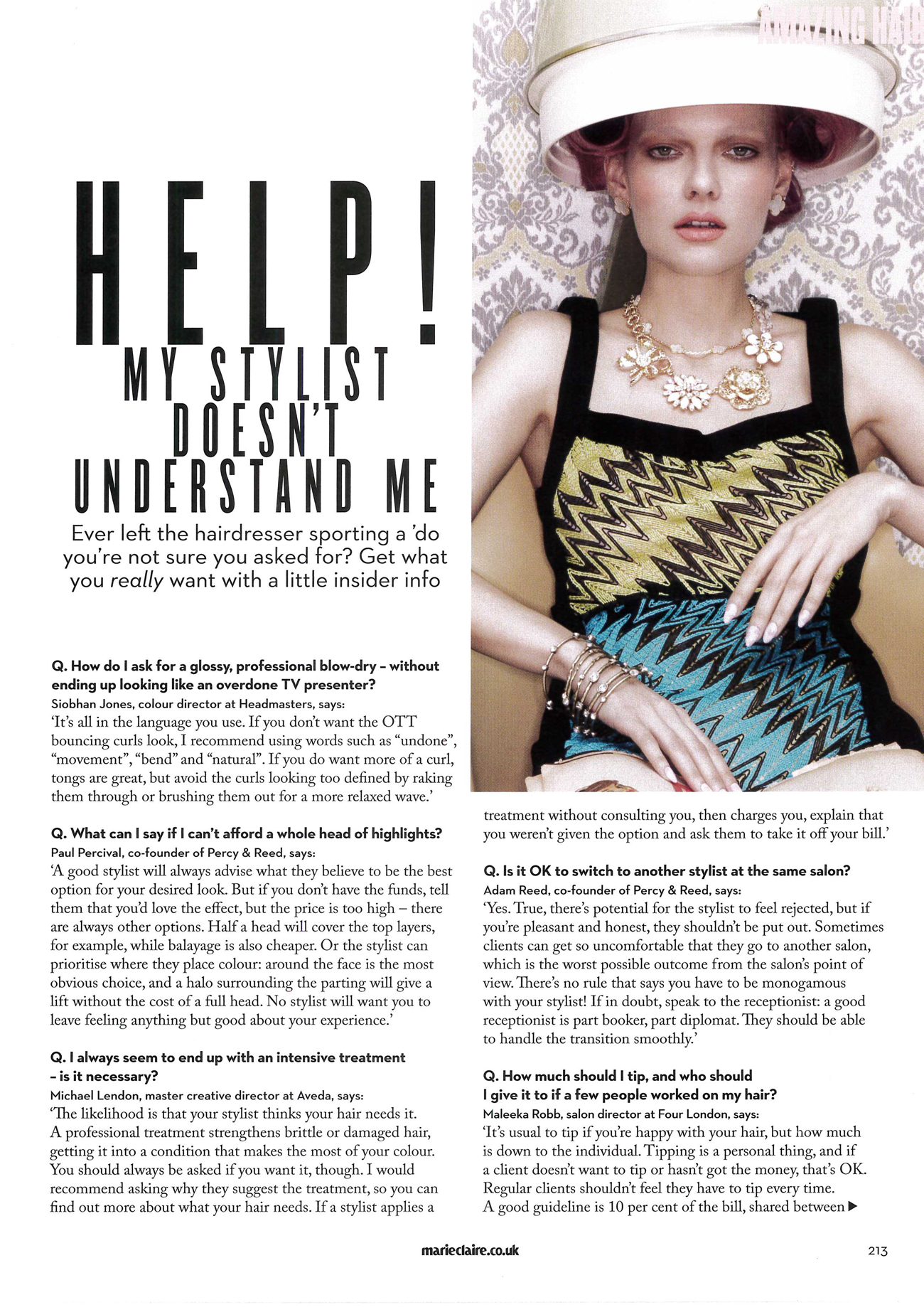 Marie Claire hair FAQs featuring tips from Siobhan Jones_Page_2