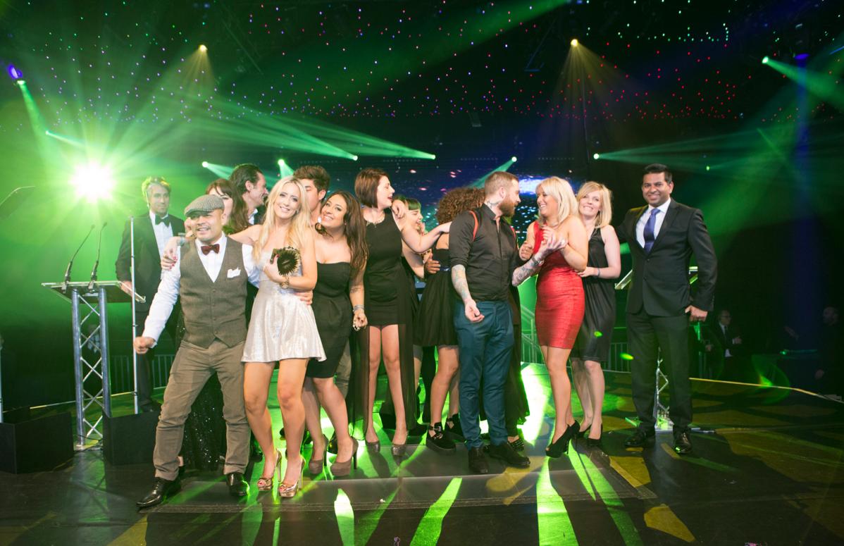 Salon of the Year winners - Headmasters Hammersmith, George Lamb & Headmasters CEO Raju Raymond