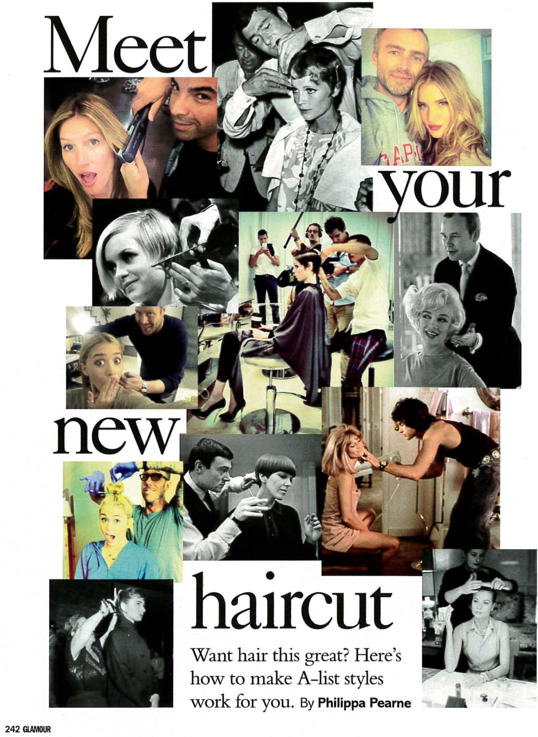 Glamour hairstyle article featuring quotes from Sian Quinn-1