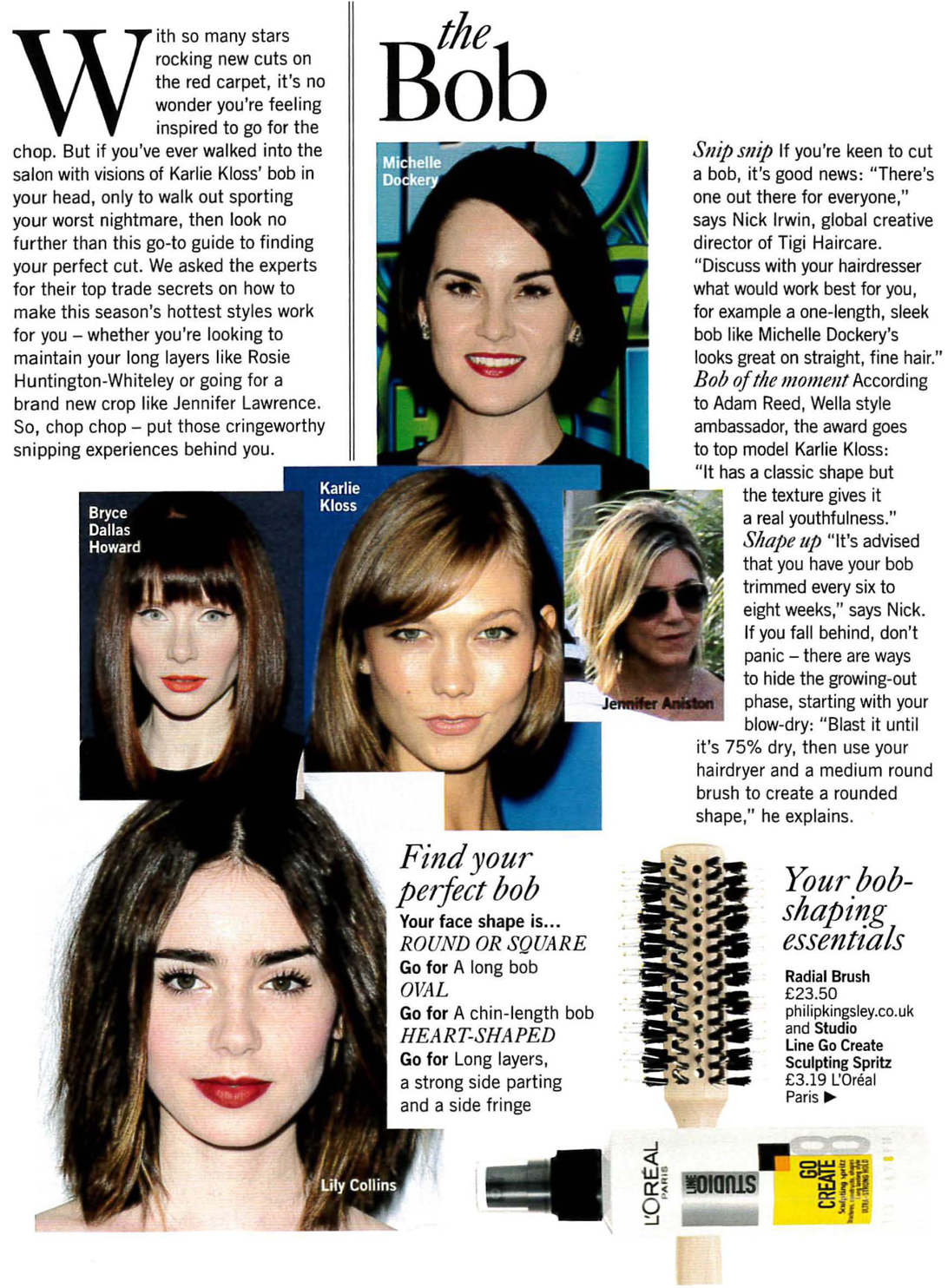 Glamour hairstyle article featuring quotes from Sian Quinn-2