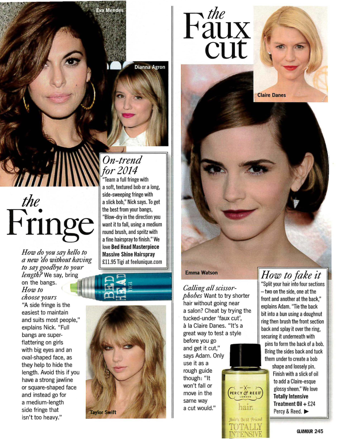 Glamour hairstyle article featuring quotes from Sian Quinn-4