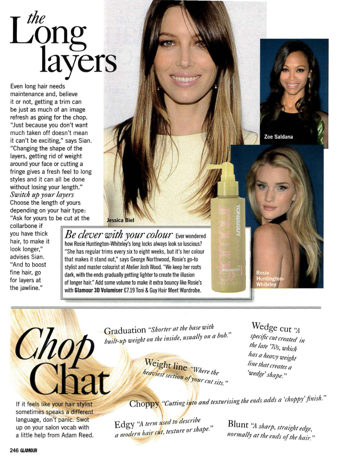 Glamour hairstyle article featuring quotes from Sian Quinn-5