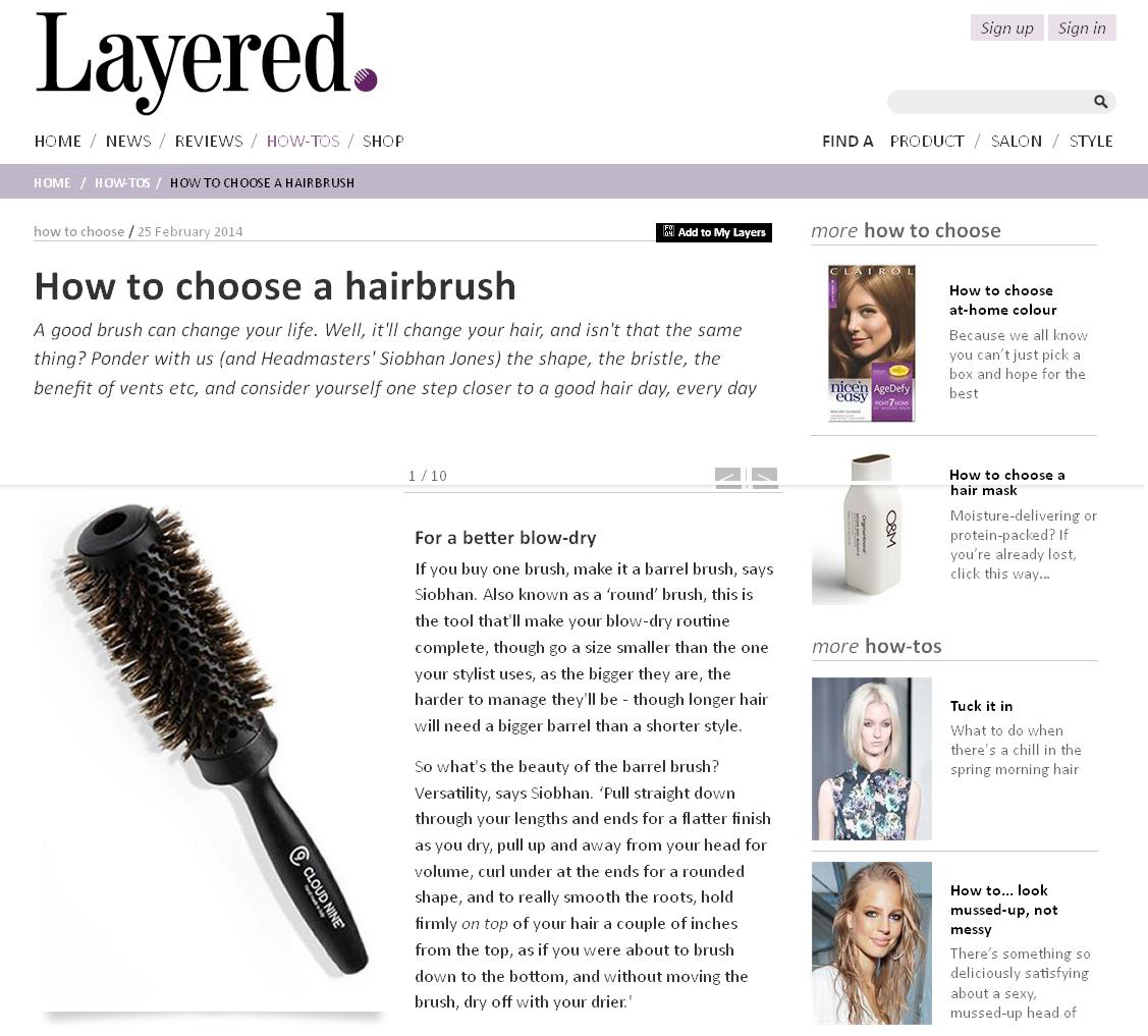 Layered online - how to choose a hairbrush with Siobhan Jones