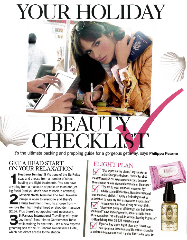 Glamour Holiday Beauty Checklist featuring tips from Jodie Papworth-1