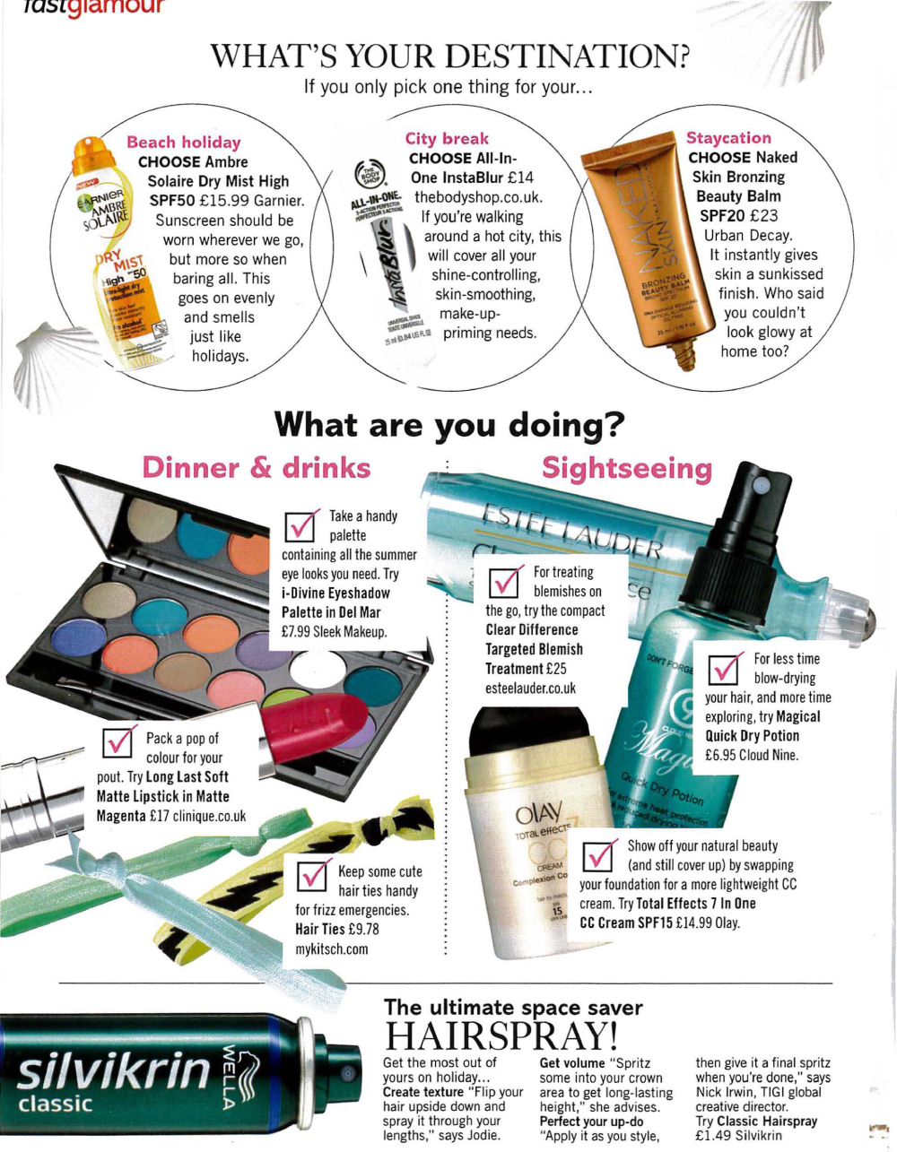 Glamour Holiday Beauty Checklist featuring tips from Jodie Papworth-2