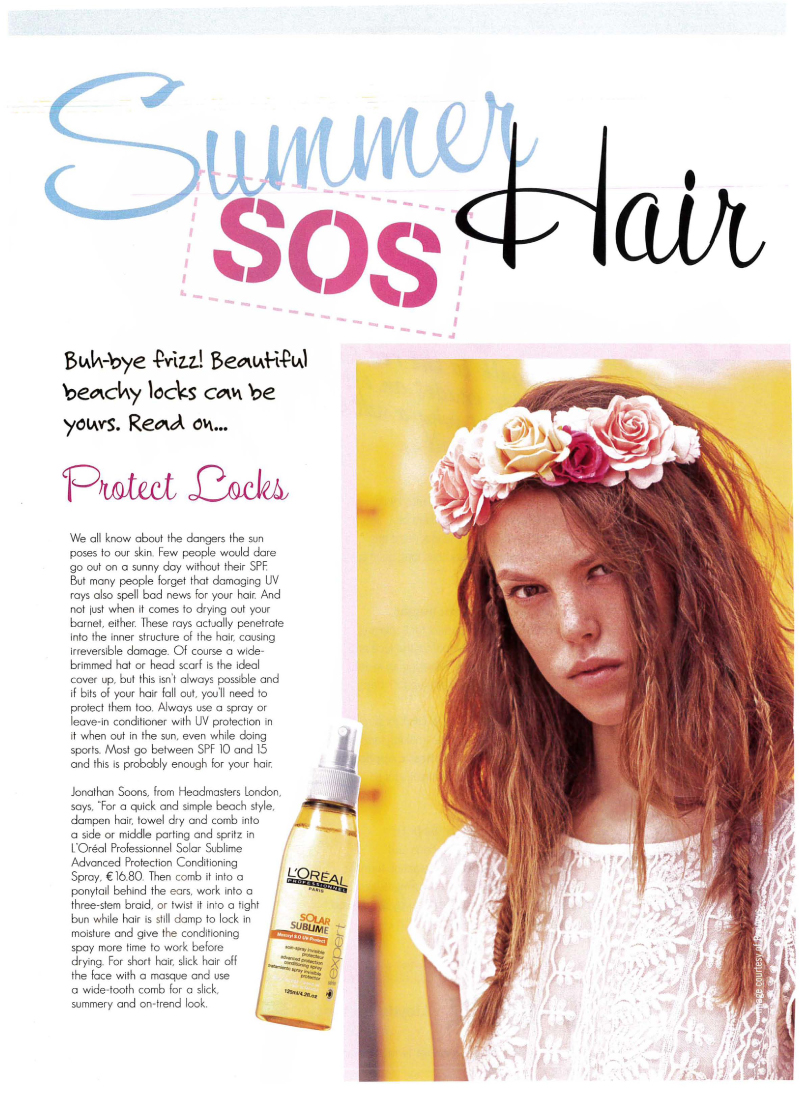 Kiss Magazine Summer Hair SOS with tips from Jonathan Soons-1