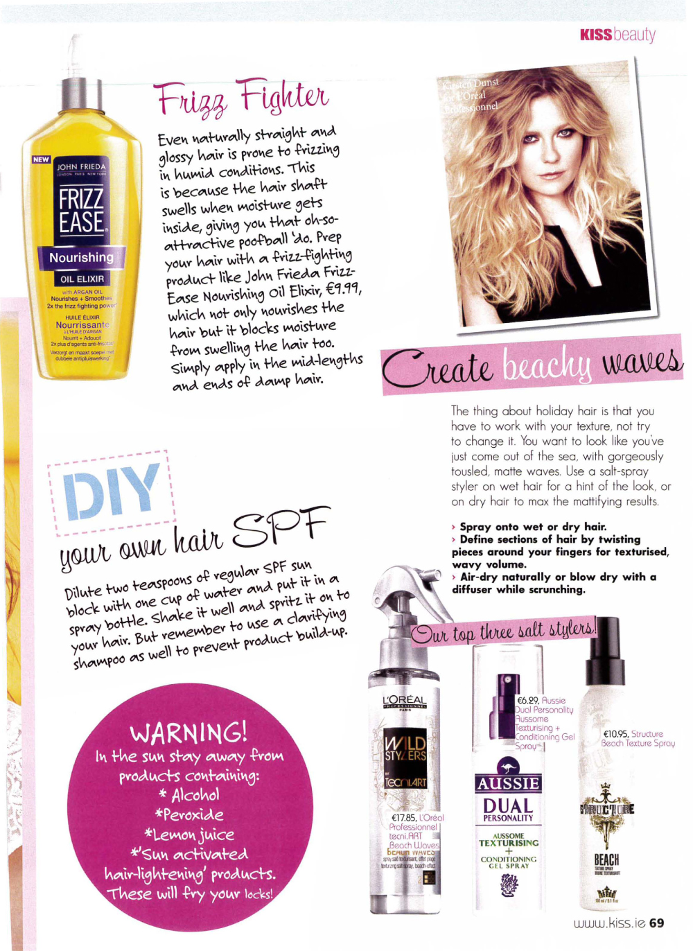 Kiss Magazine Summer Hair SOS with tips from Jonathan Soons-2