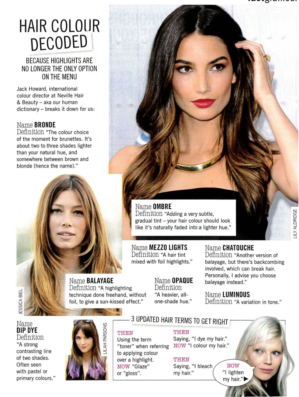 Check out Glamour Magazines hair handbook with expert quotes on how to keep your hair ontrend, from Ollie Blackaby Artistic Ambassador at Headmasters_Page_3