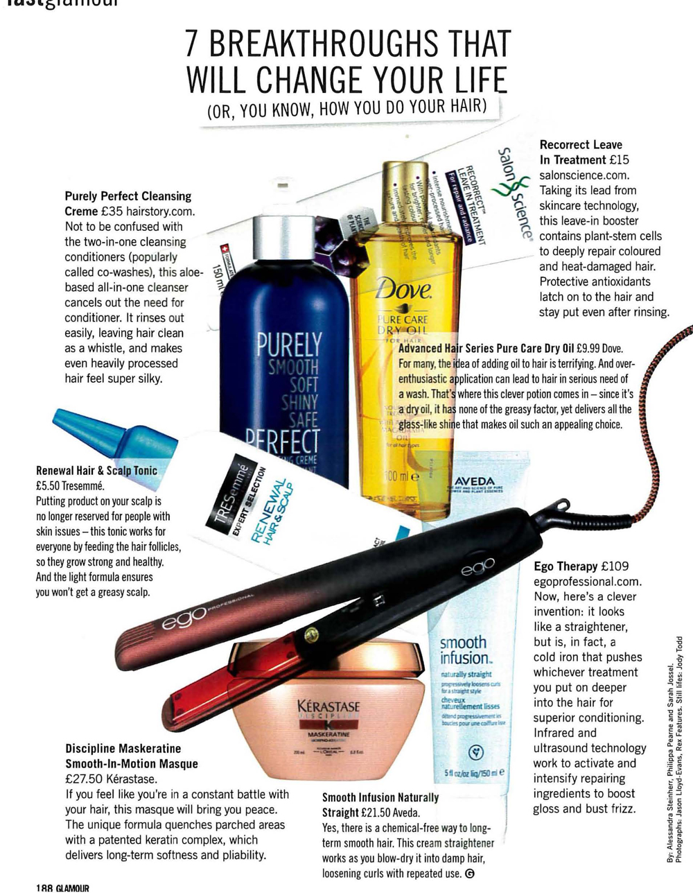 Check out Glamour Magazines hair handbook with expert quotes on how to keep your hair ontrend, from Ollie Blackaby Artistic Ambassador at Headmasters_Page_4