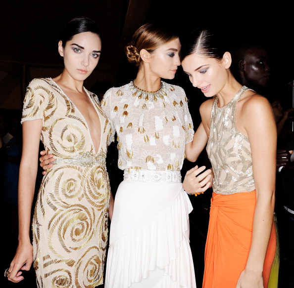 Naeem Khan - Front Row & Backstage - Spring 2012 Mercedes-Benz Fashion Week