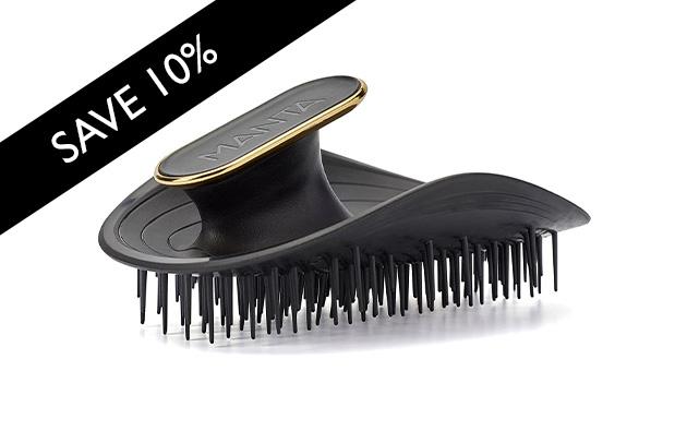 Manta Hairbrush Black