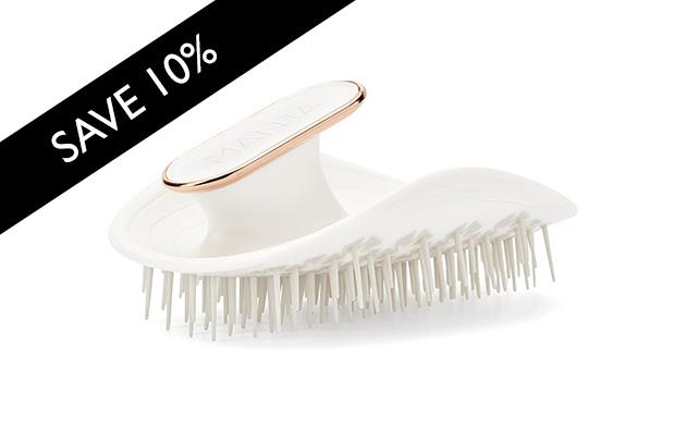 Manta Hairbrush White